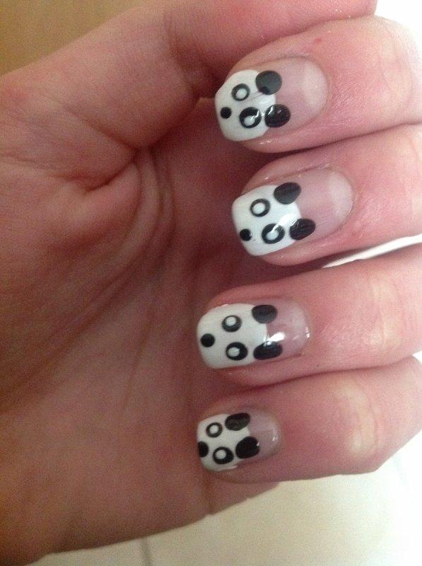 Nail Art- Pandaaas !!!