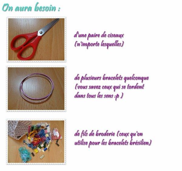 DIY - Recyclez vos vieux bracelets !