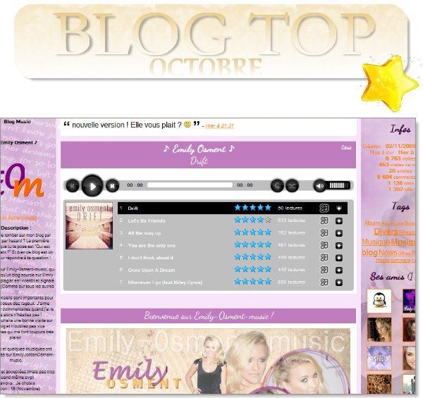 . Blog Top d'Octobre 2011.