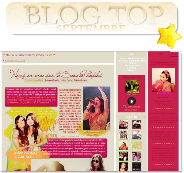 . Le Blog Top de septembre 2011.