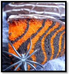 Gâteau Marbré d'Halloween.