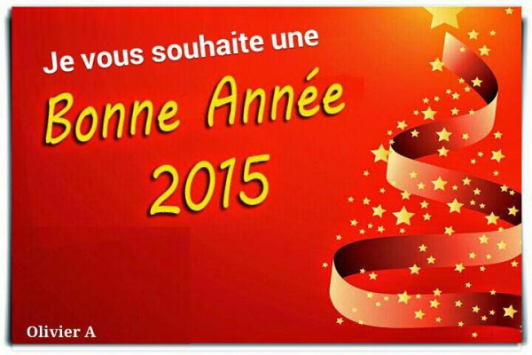 Je vous souhaite une très bonne année  2015