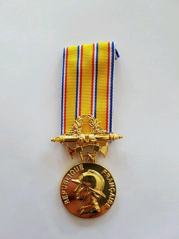 Médailles des 30 ans de pompiers