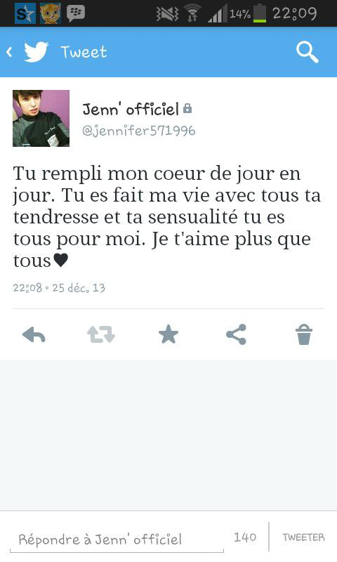 Mon tweet! *-* :) ♥