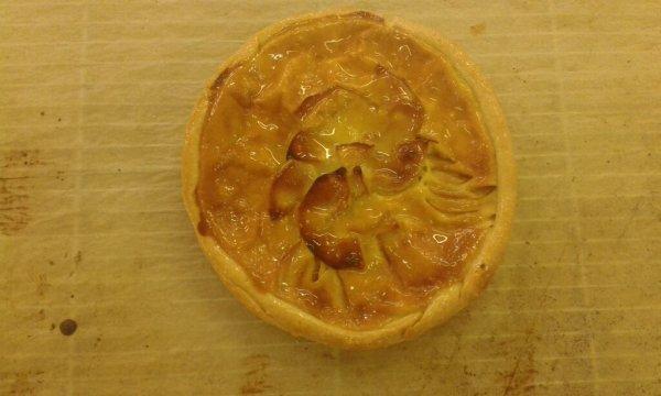 Une tarte que j'ai fait en pratique: tarte au pommes