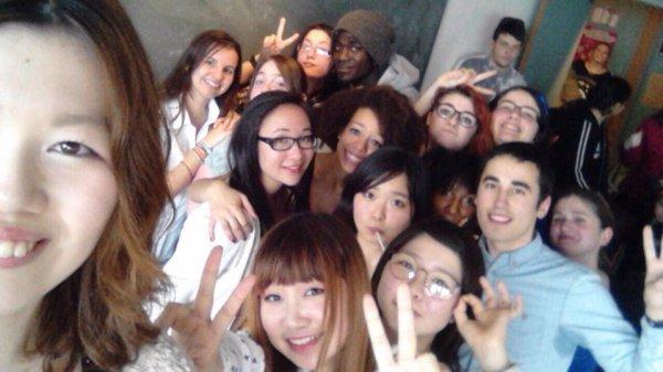 La venue d'étudiantes japonaises — かわいかったです。