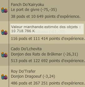 Fin du Week end xp/drop X2