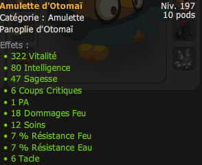 Up 200 du Iop, Xp X2 et item otomai.
