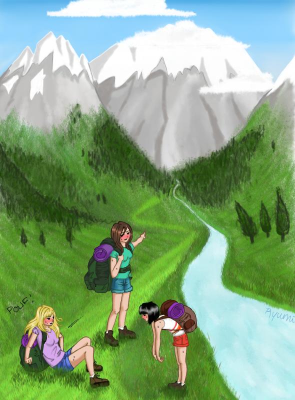 Vacances la montagne carnet de dessin - Dessin de montagne ...