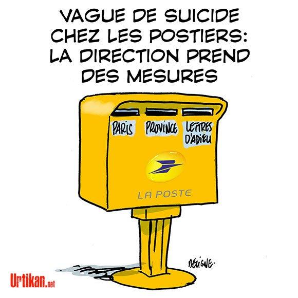 """Spécial """"Vague de suicides alarmante à La Poste"""" - Image n° 2/2 !..."""