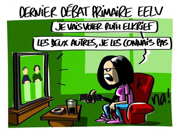 """Spécial """"Primaire des Verts, les finalistes Yannick Jadot et Michèle Rivasi"""" - Image n° 2/2 !..."""