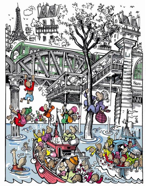 """Spécial """"Paris : Camp de migrants dans le 19e arrondissement"""" - Image n° 2/2 !..."""
