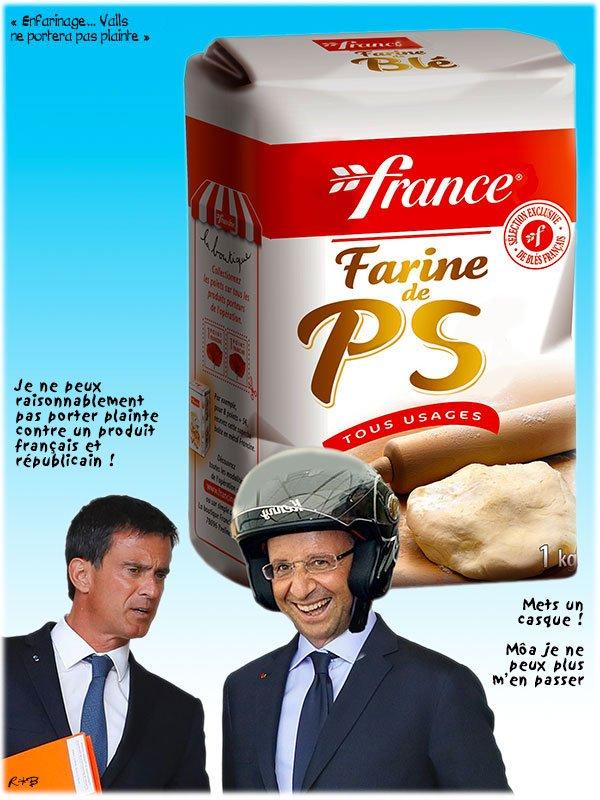 """Spécial """"Manuel Valls enfariné à Strasbourg par un opposant au 49-3"""" - Image 3/4 !..."""