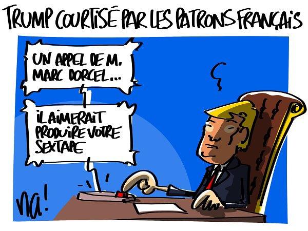 """Spécial """"Trump courtisé par les patrons français malgré sa sextape ?"""" - Image n° 2/2 !..."""