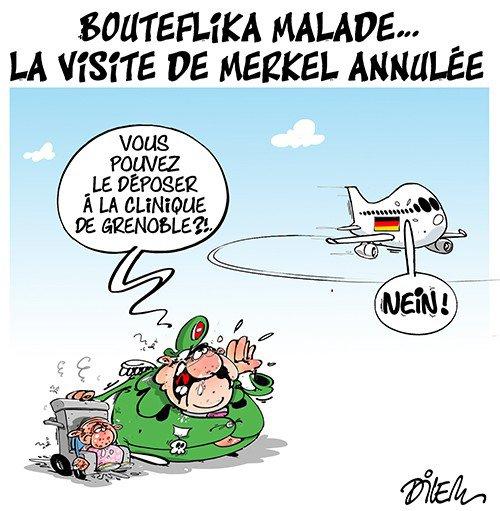 "Spécial ""Abdelaziz Bouteflika malade, la visite d'Angela Merkel reportée..."" - Image n° 2/2 !..."