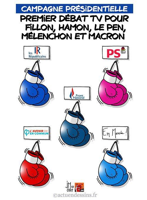 """Spécial """"1er débat TV pour 5 candidats à la Présidentielle..."""" - Image n° 2/2 !..."""