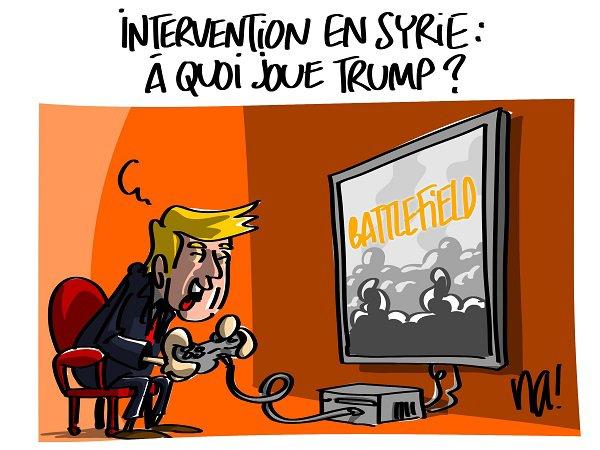 """Spécial """"Frappes en Syrie : Trump cible directement le régime de Bachar al-Assad..."""" - Image n° 4/4 !..."""