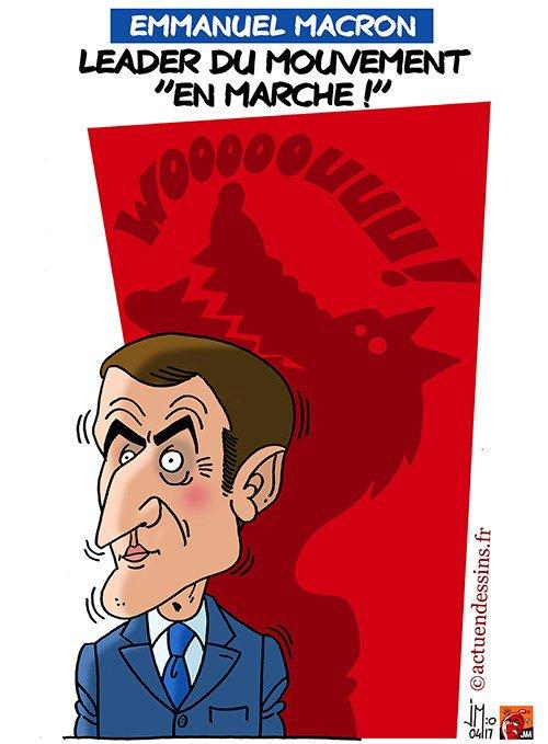"""Spécial """"Caricatures d'Emmanuel Macron..."""" - Dessin n° 2/2. !..."""