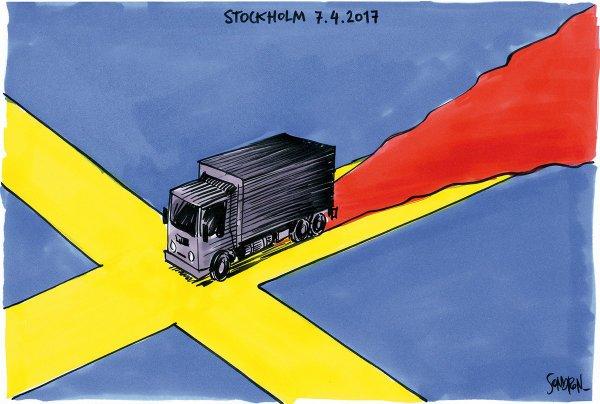 """Spécial """"Suède : quatre morts dans un attentat au camion bélier à Stockholm..."""" - Image n° 2/2 !..."""