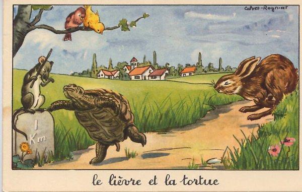 """Spécial """"LE LIÈVRE ET LA TORTUE..."""" - Image n° 1/2 !..."""