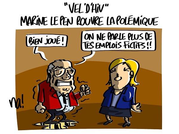 """Spécial """"« Vel'd'hiv » Marine Le Pen rouvre la polémique..."""" - Image n° 2/2 !..."""