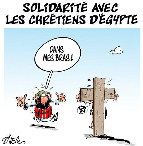 """Spécial """"Les chrétiens d'Egypte fauchés par deux attentats du groupe EI.."""" - Image n° 2/2 !..."""