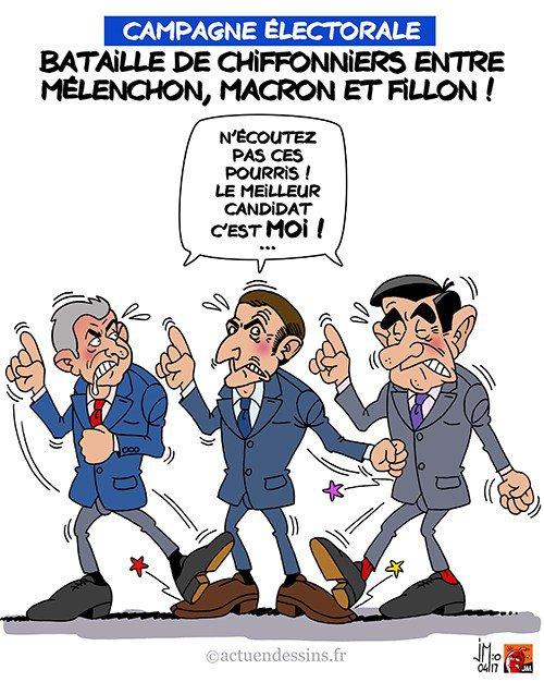 """Spécial """"Mélenchon, Macron, Fillon… comme des chiffonniers..."""" - Image n° 2/2 !..."""