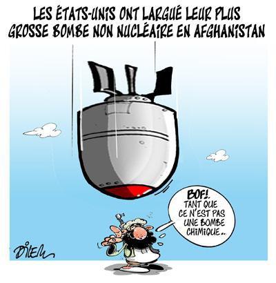 """Spécial """"Méga bombe américaine: des dizaines de combattants de l'EI tués selon Kaboul..."""" - Image n° 2/2 !..."""