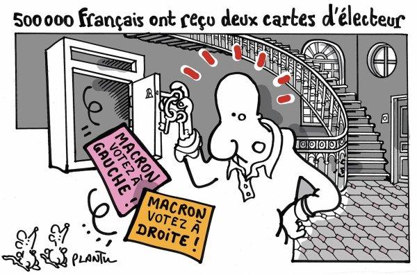 """Spécial """"500 000 Français ont reçu deux cartes d'électeurs..."""" - Dessin n° 1/2 !..."""