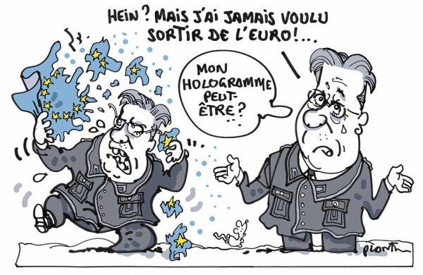 """Spécial """"SORTIRA OU SORTIRA PAS DE L'EURO ?"""" - Dessin n° 2/2 !..."""