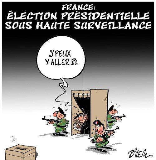 """Spécial """"Présidentielle : en France, des bureaux de vote sous haute surveillance..."""" - Image n° 2/2 !..."""