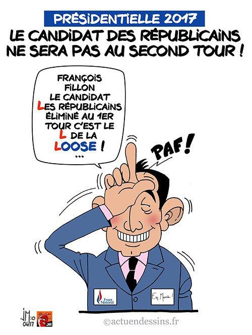 """Spécial """"Le candidat « Les Républicains », François fillon éliminé au 1er tour..."""" - Image n° 2/2 !..."""