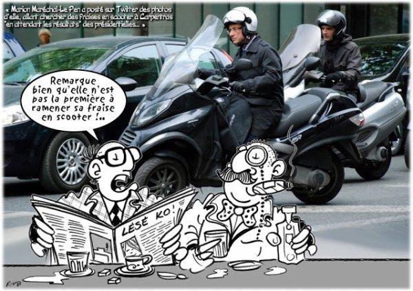 """Spécial """"François HOLLANDE & son scooter..."""" - Image n° 2/2 !..."""