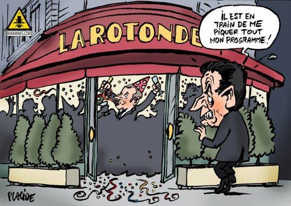 """Spécial """"Présidentielle: Macron fait la fête à la Rotonde, comme Sarkozy au Fouquet's ?..."""" - Image n° 3/3 !..."""