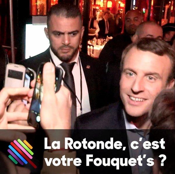 """Spécial """"Présidentielle: Macron fait la fête à la Rotonde, comme Sarkozy au Fouquet's ?..."""" - Image n° 2/3 !..."""