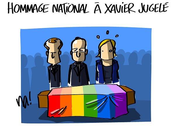 "Spécial ""HOMMAGE NATIONAL À XAVIER JUGELÉ..."" - Image n° 2/2 !..."