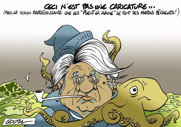 """Spécial """"Marine (Le Pen) et Gilbert (Collard) dans un bateau au Grau du Roi..."""" - Image n° 2/2 !..."""