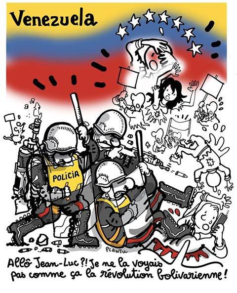 """Spécial """"MANIFESTATIONS AU VENEZUELA: 24 morts.  ( Le dessin de L'Express)..."""" - Image n° 2/2 !..."""
