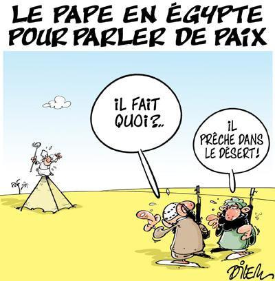 """Spécial """"Le pape François en Egypte pour un « voyage d'unité et de fraternité »..."""" - Image n° 2/2 !..."""