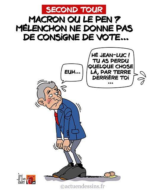 """Spécial """"Mélenchon ne donne pas de consigne de vote !..."""" - Image n° 2/2 !..."""