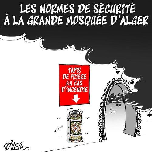"""Spécial """"Au sujet de la sécurité à la Grande Mosquée d'Alger..."""" - Image n° 2/2 !..."""