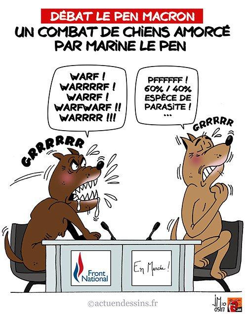 """Spécial """"2e débat TV : un combat de chiens..."""" - Image n° 2/2 !..."""