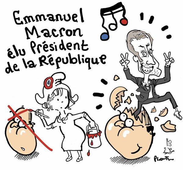 """Spécial """"EMMANUEL MACRON ÉLU PRÉSIDENT DE LA RÉPUBLIQUE..."""" - Image n° 2/2 !..."""