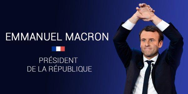 """Spécial """"EMMANUEL MACRON ÉLU PRÉSIDENT DE LA RÉPUBLIQUE..."""" - Image n° 1/2 !..."""