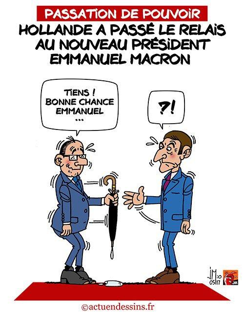 """Spécial """"Présidentielle 2017 : la passation de pouvoir Hollande-Macron..."""" - Image n° 2/2 !..."""