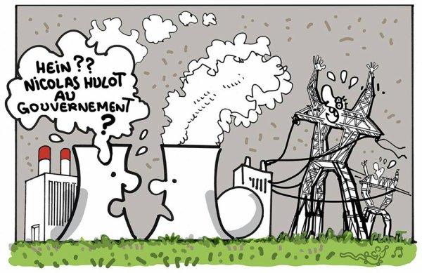"""Spécial """"La nomination de Nicolas Hulot au ministère de la Transition écologique plombe le titre EDF..."""" - Image n° 2/2 !..."""