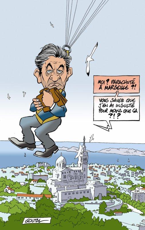 """Spécial """"MÉLENCHON PARACHUTÉ À MARSEILLE..."""" - Image n° 2/2 !..."""