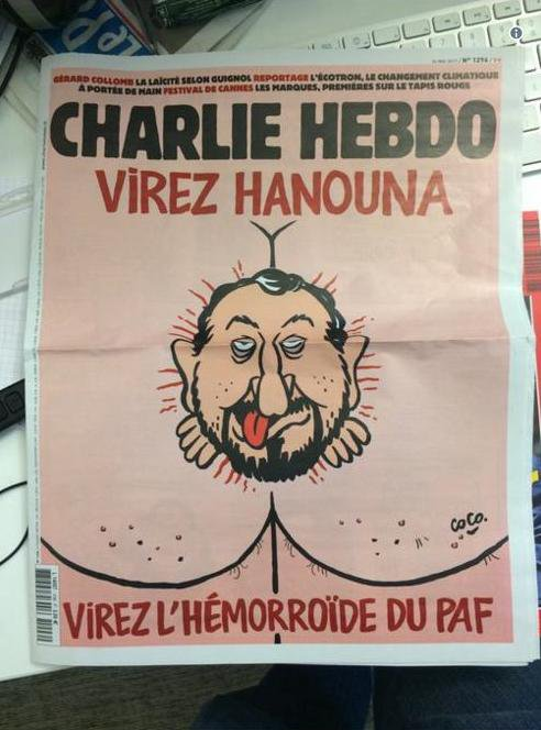 Hanouna en couv' de Charlie Hebdo !...