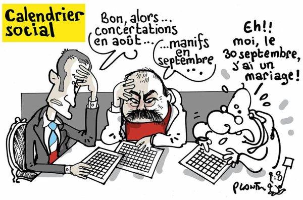 """Spécial """"Code du travail : Macron reçoit les organisations syndicales et patronales à l'Elysée..."""" - Image n° 2/2 !..."""