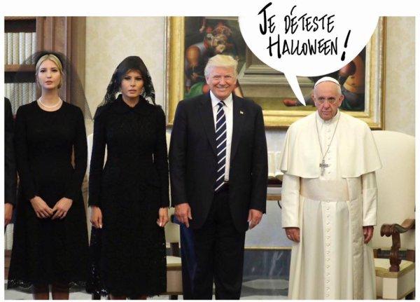 """Spécial """"TRUMP CHEZ LE PAPE..."""" - Image n° 3/3 !..."""